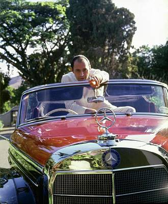 American Car Photograph - Don Reinaldo Herrera Uslar At Home by Horst P. Horst