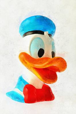 Ducks Painting - Donald Duck by George Atsametakis