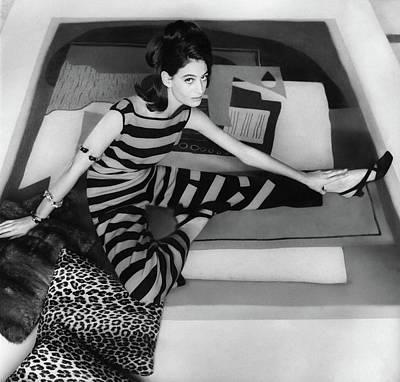 Donna Allegra Caracciolo Di Castagneto Wearing Art Print