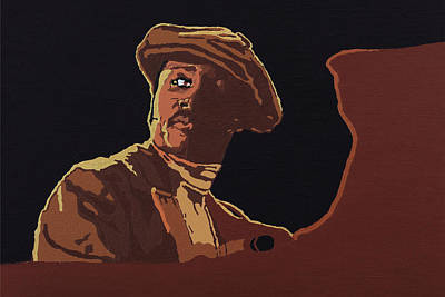 Art Print featuring the painting Donny Hathaway by Rachel Natalie Rawlins