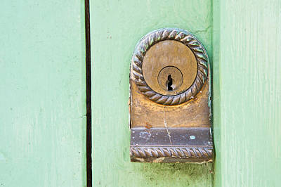 Photograph - Door Lock by Tom Gowanlock
