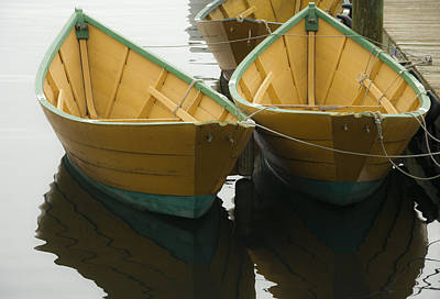 Dories At The Dock Art Print by David Stone