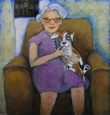 Doris And Maisie Art Print by Cindy Riccardelli