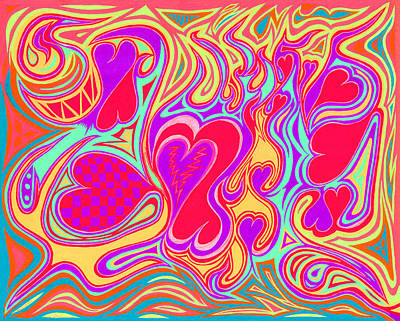 Double Broken Heart Art Print by Kenneth James