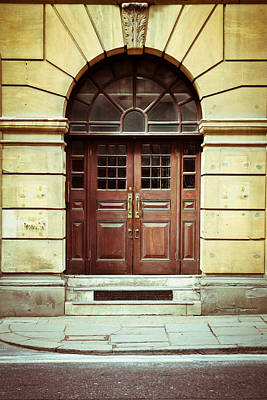 Buidling Photograph - Double Door by Tom Gowanlock