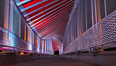 Double Helix Footbridge Art Print