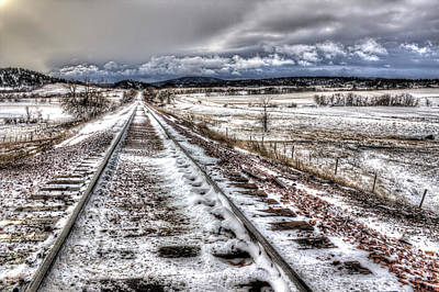 Down The Tracks Art Print by Michele Richter