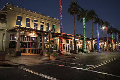 Photograph - Downtown Chandler Arizona Boardwalk by Dave Dilli