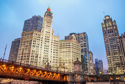 River Scenes Photograph - Downtown Chicago View by Jess Kraft
