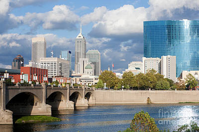 Downtown Indianapolis Indiana Art Print by Anthony Totah