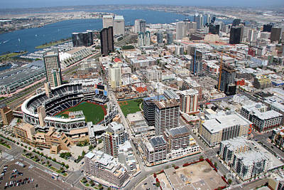 San Diego California Baseball Stadiums Photograph - Downtown San Diego by Bill Cobb