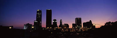 Oklahoma Photograph - Downtown Skyline At Night, Oklahoma by Panoramic Images
