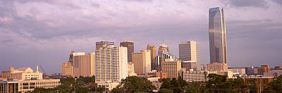 Devon Tower Photograph - Downtown Skyline, Oklahoma City by Panoramic Images