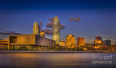 Tampa Skyline Photograph - Downtown Tampa by Marvin Spates