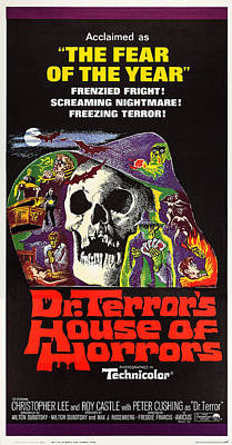 Horror Movies Photograph - Dr. Terrors House Of Horrors, Poster by Everett