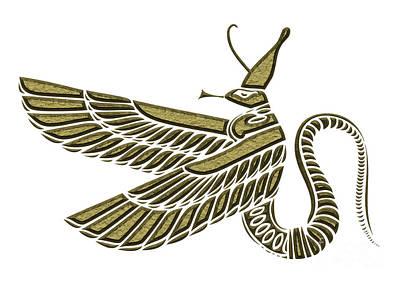 Egypt Mixed Media - Dragon - Demon Of Ancient Egypt by Michal Boubin