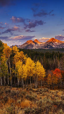 Photograph - Dramatic Sawtooth Autumn Sunrise  by Vishwanath Bhat