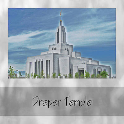 Photograph - Draper Temple by VaLon Frandsen