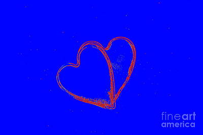 Photograph - Drawing Intertwined Hearts  by Blanchi Costela