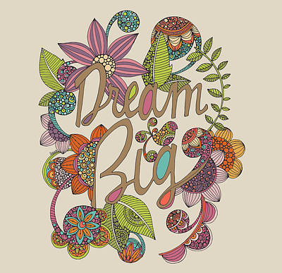 Dream Big Art Print by Valentina