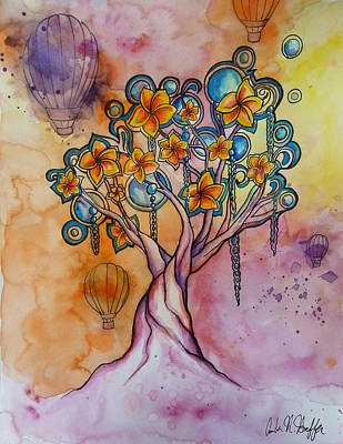 Dream Tree  Art Print by Amber Hoeffer