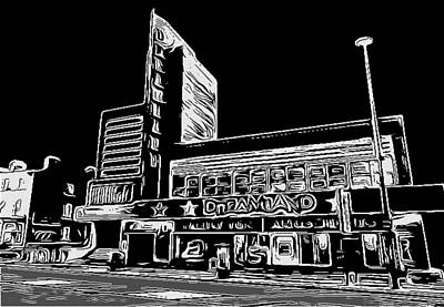 Lino Cut Digital Art - Dreamland Margate by Jeff Laurents