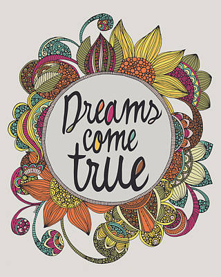 Dreams Come True Art Print by Valentina