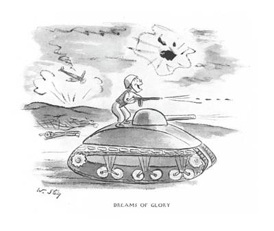 Dreams Of Glory Art Print by William Steig
