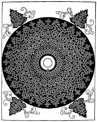 Disc Painting - D�rer Knot, 1507 by Granger