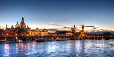 Dresden Skyline Art Print by Steffen Gierok