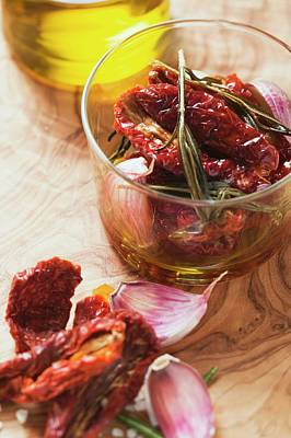Dried Tomatoes With Rosemary, Garlic And Olive Oil Art Print