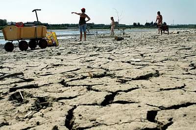 Drought Along The Meuse River Art Print