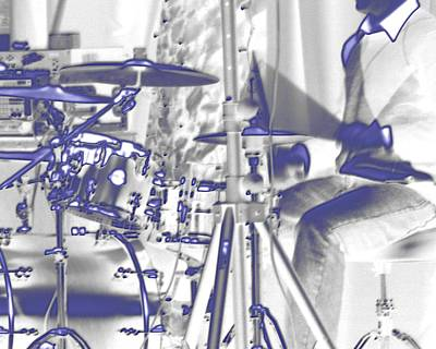 Jerry Sodorff Royalty-Free and Rights-Managed Images - Drummer 24837 by Jerry Sodorff