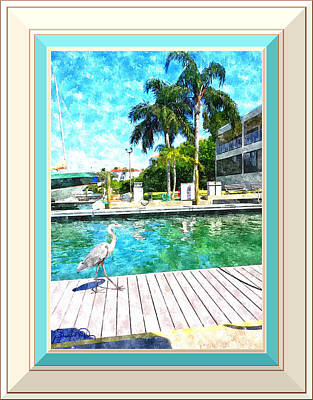 Photograph - Dry Dock Bird Walk - Digitally Framed by Susan Molnar