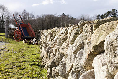 Photograph - Dry Stone Wall by Jim Orr