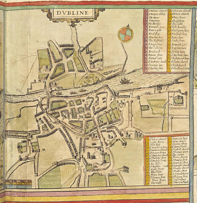 Cartography Photograph - Dublin by British Library