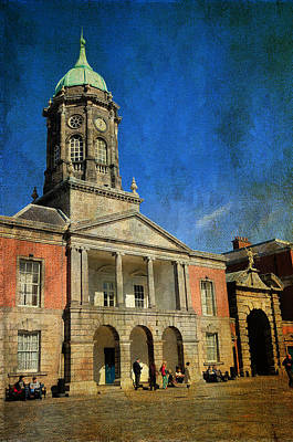Photograph - Dublin Castle. Streets Of Dublin. Painting Collection by Jenny Rainbow