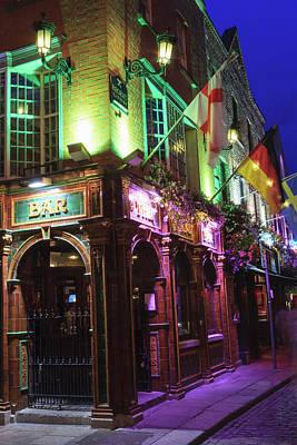 Dublin, Ireland Temple Bar Area Art Print by Tom Norring