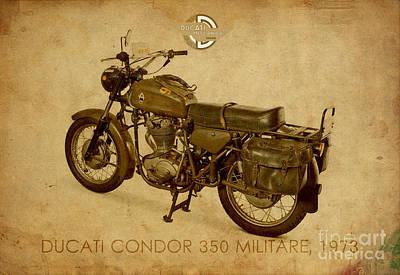 Condor Mixed Media - Ducati Condor 350 Militare 1973 by Pablo Franchi