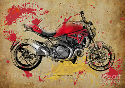 Ducati Monster 1200 2014 Art Print