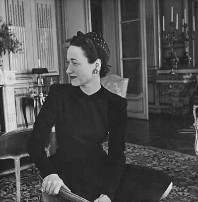 Duchess Of Windsor In Her Paris Home Art Print by Horst P. Horst