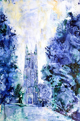 Historic Architecture Painting - Duke Chapel by Ryan Fox