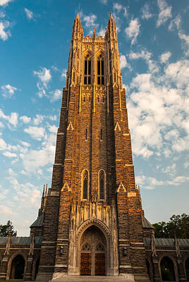 Photograph - Duke University Chapel by Gene Hilton