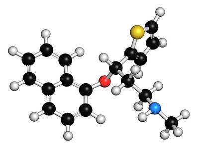 Molecule Photograph - Duloxetine Antidepressant Drug Molecule by Molekuul