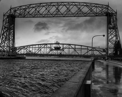 Duluth Digital Art - Duluth Aerial Lift Bridge by Gary Rieks
