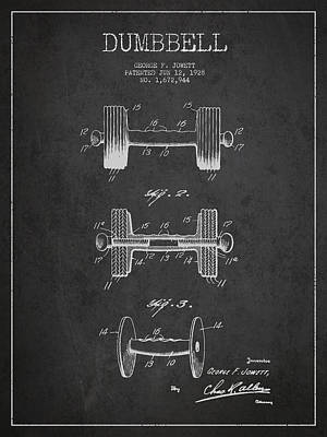 Technical Drawing Digital Art - Dumbbell Patent Drawing From 1927 by Aged Pixel