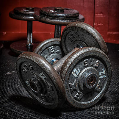 Dumbbells Art Print by Verena Matthew