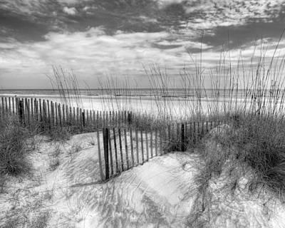 Dune Fences Art Print by Debra and Dave Vanderlaan