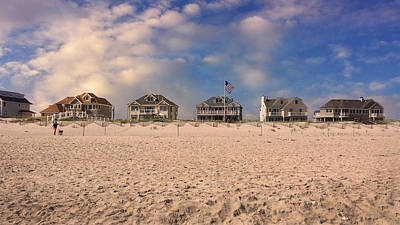 In A Row Photograph - Dune Road by Laura Fasulo