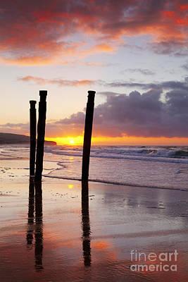 Dunedin Photograph - Dunedin St Clair Beach At Sunrise by Colin and Linda McKie